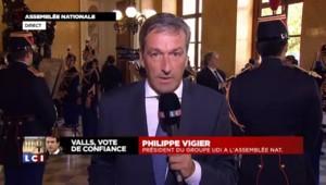 """Vote de confiance : """"La France va continuer d'aller dans le mur"""" selon Philippe Vigier"""