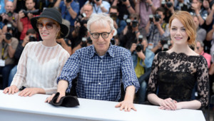 Woody Allen, Emma Stone, Parker Posey Cannes Mai 2015