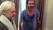 Julian Assange et Eric Cantona