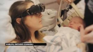 Une Canadienne aveugle découvre son bébé grâce à ces lunettes.