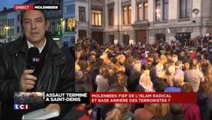 A Molenbeek, des habitants rendent hommage aux victimes des attentats de Paris