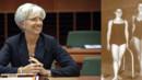 Christine Lagarde, ancienne nageuse de natation synchronisée.