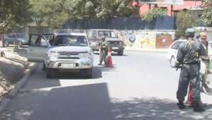 afghanistan police barrage