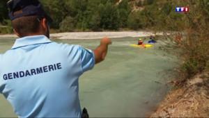 Le 20 heures du 24 juillet 2015 : Les gendarmes mobilisés pour sécuriser les sports en eau-vive - 1500