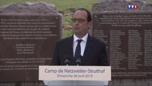 Le 20 heures du 26 avril 2015 : François Hollande rend hommage aux déportés de Struthof, seul camp installé en France - 1527.842