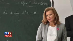 VIDEO : Valérie Trierweiler lit la dictée d'ELA