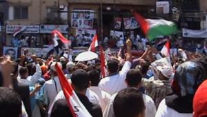Egypte : Manifestation Place Tahrir au Caire, le 8 juillet 2011.