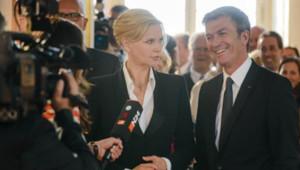 Veronica Ferres et Philippe Caroit dans le téléfilm allemand Une affaire d'Etat, diffusé sur SAT.1