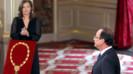 François Hollande et sa compagne lors de la cérémonie d'investiture à l'Elysée