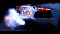 Lamborghini aventador Novitec Torado flammes