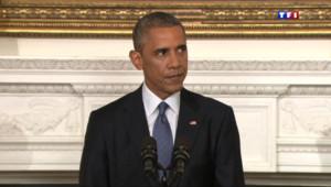 Le 13 heures du 8 août 2014 : Irak : Obama autorise des frappes cibl� sur les jihadistes - 381.73799999999994