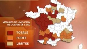 TF1/LCI : Carte des restrictions d'eau en vigueur au 26 juillet