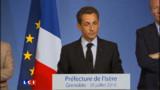 La cote de popularité de Sarkozy remonte de deux points