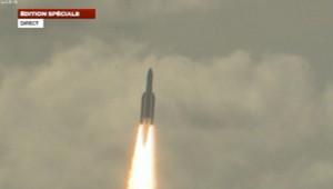 Ariane 5 a décollé de Kourou pour mettre le satellite Alphasat en orbite, le 25 juillet 2013.