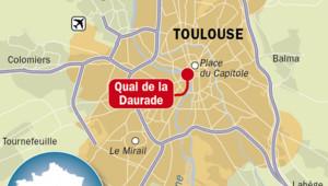 infographie Toulouse quai de la daurade