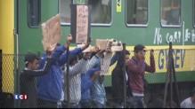 Migrants: des réfugiés refusent de quitter un train