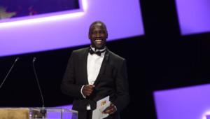 Omar Sy lors de la cérémonie des César en février 2013