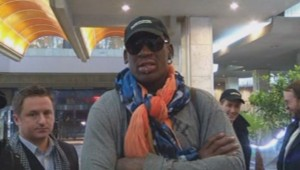 Dennis Rodman en Corée du Nord le 19/12/2013