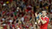 Gareth Bale après la victoire 3-0 du pays de Galles contre la Russie le 20 juin 2016.