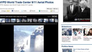 Photos inédites du 11-Septembre diffusées sur ABC News le 10 février 2010