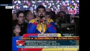 Venezuela : Maduro déclaré vainqueur de la présidentielle avec 50,66% des voix (15 avril 2013)