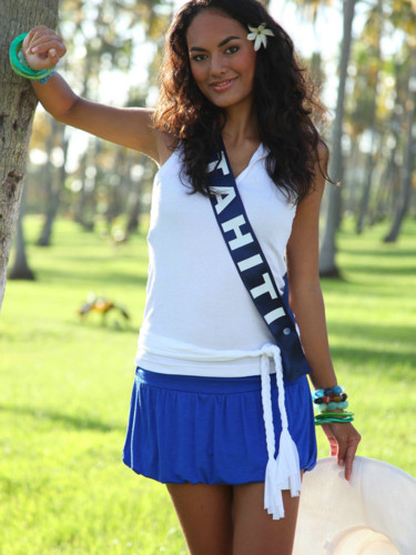 Miss Tahiti 2009 - Léna Bonno : candidate Miss France 2010