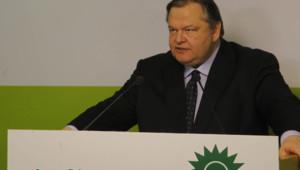 Evangélos Vénizélos, le dirigeant du parti socialiste grec, le Pasok (5 mai 2012)
