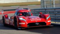 La Nissan GT-R LM Nismo, prototype qui participera au championnat du monde d'Endurance 2015 dans la catégorie LMP1.
