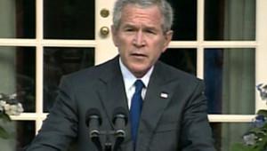 TF1/LCI George W. Bush, conférence de presse