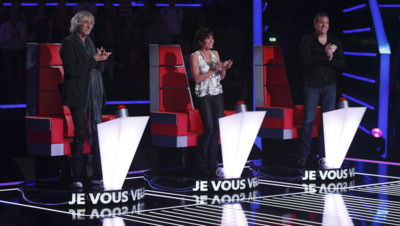 Jenifer, Louis Bertignac et Garou, coachs de The Voice Kids