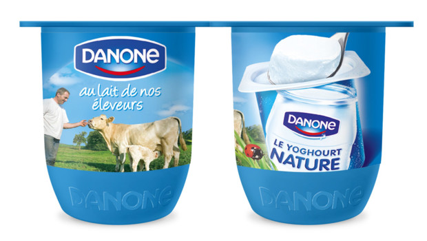 Le nouveau pot de yaourt Danone, baptis &amp;quot;Kiss&amp;quot; en interne