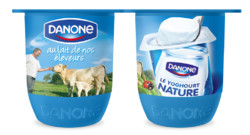 Le nouveau pot de yaourt Danone, baptis &quot;Kiss&quot; en interne