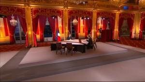 Nicolas Sarkozy lors de son intervention télévisée depuis l'Elysée le 29 janvier