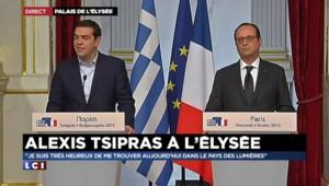 """Sommet France-Grèce : """"Travailler ensemble et unir nos forces"""" lance Tsipras"""