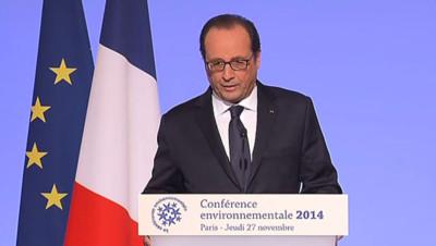 François hollande conférence environnementale 27 novembre 2014