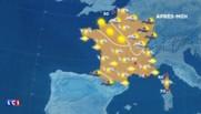 La météo du mardi 24 mai : ciel couvert sur tout le pays, des averses à l'est