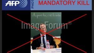 La photo de François Hollande retirée de l'offre éditoriale de l'AFP.