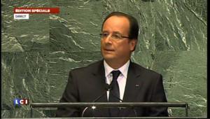 Premier discours de Hollande devant l'ONU : la vidéo intégrale