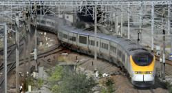 Un Eurostar à Coquelles en France en septembre 2008