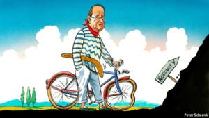 Caricature de François Hollande dans l'hebdomadaire The Economist, le 18 avril 2013.
