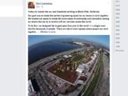 """Facebook déménage dans """"plus grand bureau ouvert du monde"""" : """"sans fantaisie"""", selon Zuckerberg sur son compte"""