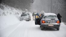 La neige perturbe la circulation en Savoie le 27 décembre 2014