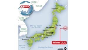 Infographie : séisme de magnitude 7,3 au Japon (25/10/2013)