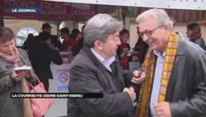 Jean-Luc Mélenchon et Pierre Laurent à la fête de l'Huma