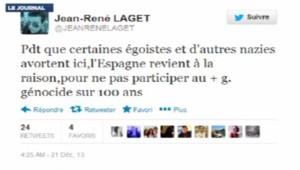 Tweet sur l'avortement de Jean-René Laget, jeune élu UMP