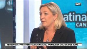 Marine Le Pen sur Canal+ (15 avril 2013)