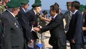 Sarkozy rendant hommage au commando Kieffer, le 8 mai 2008