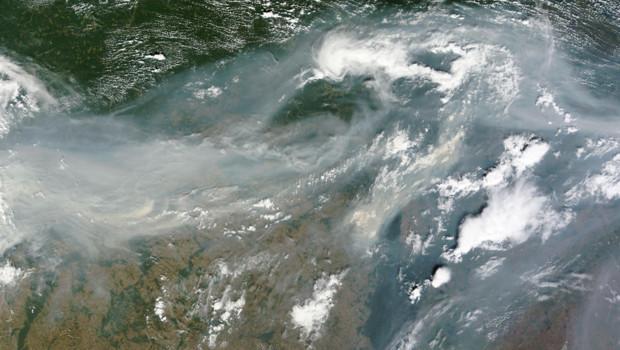 Incendies en Russie : la fumée vue depuis l'espace (2 août 2010)