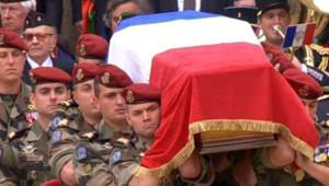 Photo prise en 2008 lors des obsèques aux Invalides de dix soldats français tués en Afghanistan