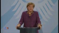 """La chancelière Angela Merkel a souligné vendredi que l'euro incarnait l'idée de l'Europe en tant que """"communauté de paix"""" tout en qualifiant de """"décision formidable"""" l'attribution du prix Nobel à l'Union européenne."""